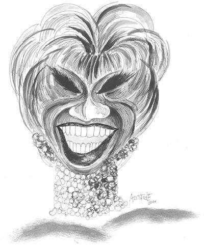 Celia Cruz. Caricatura de Aristides