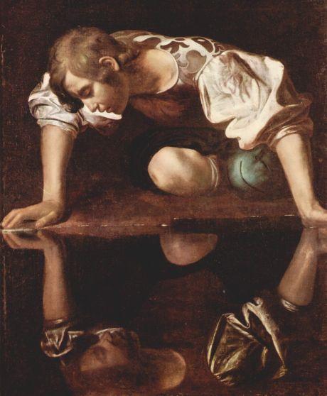 """""""Narciso"""" de Caravaggio - Imagen tomada de Wikipedia.org"""