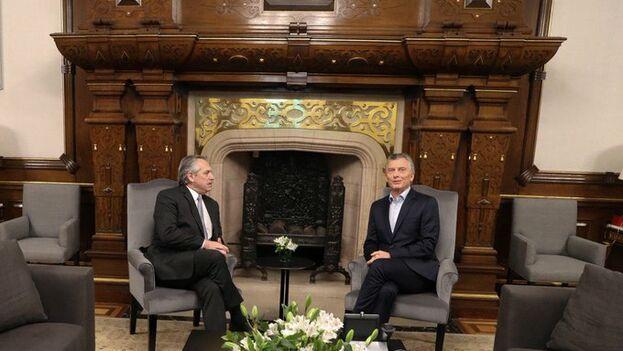 Mauricio Macri y Alberto Fernández se reunieron en la Casa Rosada dando muestras de una transición cordial y ordenada. (MauricioMacri)