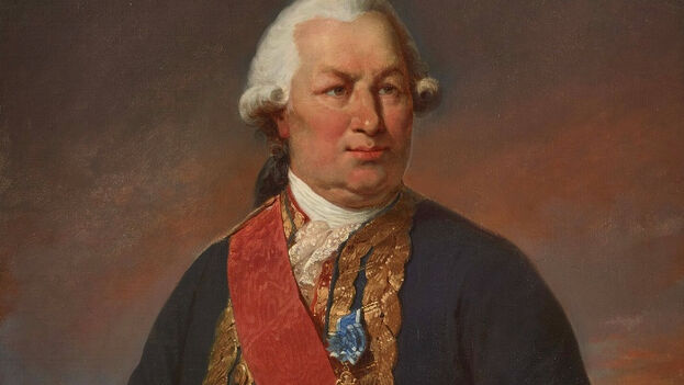 Retrato de 1781 de Fraçois de Grasse, almirante de la flota francesa y héroe de la independencia estadounidense. (CC)
