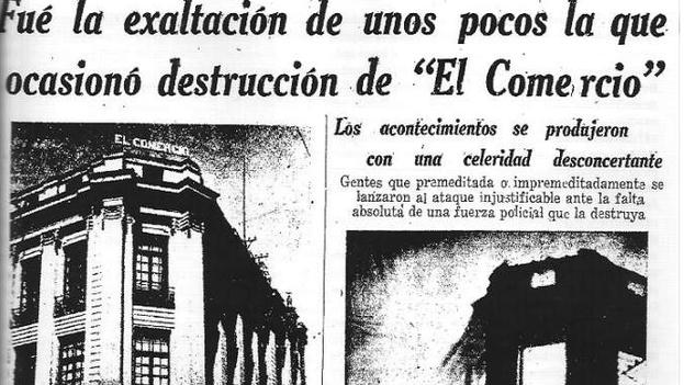 Los periódicos informaron de la tragedia de Radio Quito, ocasionada por una multitud furiosa ante una dramatización emitida.