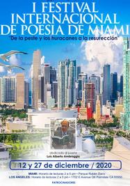 Cartel del I Festival de Poesía de Miami. (Cortesía)
