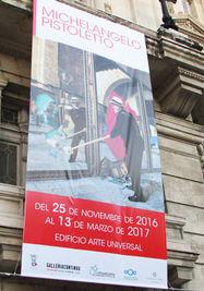 Cartel de la exposición de Pistoletto