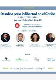 Desafíos para la Libertad en el Caribe. Cuba y Venezuela. (Cortesía)