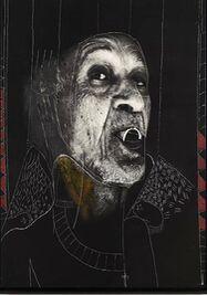 """Sin título, de la serie """"Detalles de cubanía"""", 2018, es una de las obras que se exhiben en 'Fiesta de Máscaras' de Moisés Finalé. (Galería Artis 718)"""
