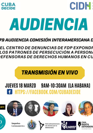 Exposición de Cuba Decide ante la CIDH de la OEA. (Cortesía)