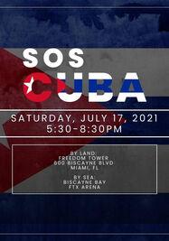 Gran manifestación en la Torre de La Libertad de Miami en apoyo al pueblo de Cuba. (Cortesía)