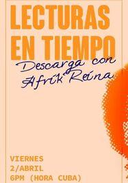 'Lecturas en tiempo' con la artista Afrika Reina BV. (Facebook)