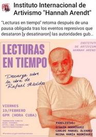 Lecturas en tiempo dedicado al escritor Rafael Alcides. (Facebook)