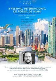Mes de poesía en Miami con Federico Hernández Aguilar. (Facebook)