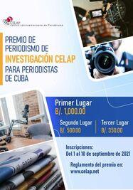 Premio de Periodismo Investigativo 2021. (Celap)