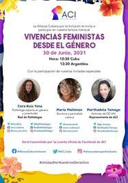 Vivencias feministas desde el género. (Facebook)