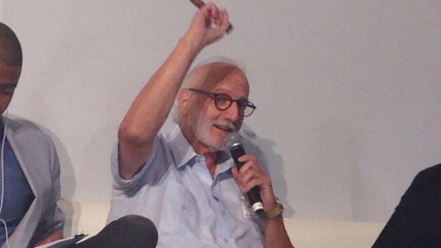 El contratista estadounidense Alan Gross este martes en el Cuba Internet Freedom, en Miami. (14ymedio)