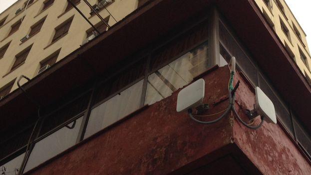 Antena de wifi en La Habana. (14ymedio)