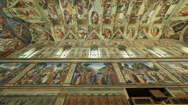 La Capilla Sixtina iluminada con luz LED. /Museo Vaticano
