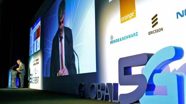 Conferencia internacional sobre las perspectivas del 5G celebrada el año pasado en Valencia. (EFE/Ana Escobar/Archivo)