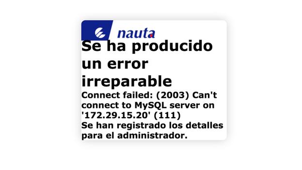Error Nauta.