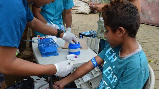 Estudio de enfermedades transmitidas por mosquitos en Managua. (EFE/Paolo Harris Paz/Science)