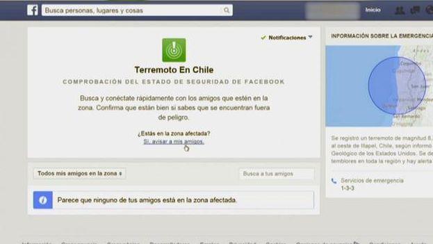 Facebook ha activado 'safety check' tras el terremoto para que los usuarios comprueben cómo están sus amigos en Chile. (Facebook)