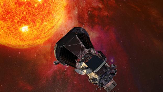 Ilustración que muestra a la sonda Parker aproximándose al Sol. (Johns Hopkins/ University Applied Physics Laboratory/ NASA)