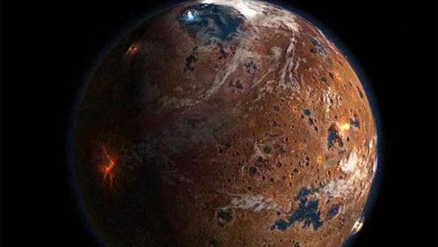 Imagen de Marte tomada por la sonda Phoenix. (Flickr)
