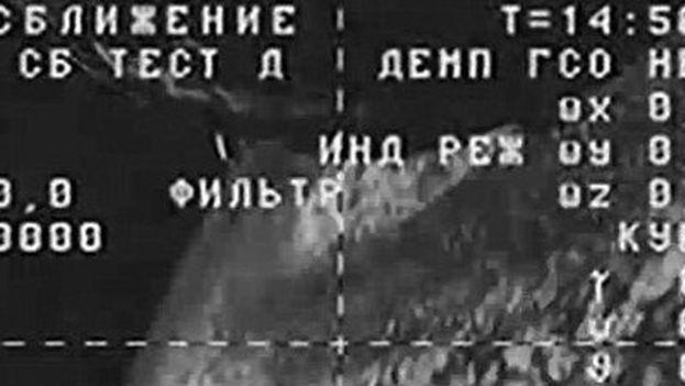 Imágenes cedidas por la NASA que muestran al carguero precipitándose hacia la Tierra. (NASA)