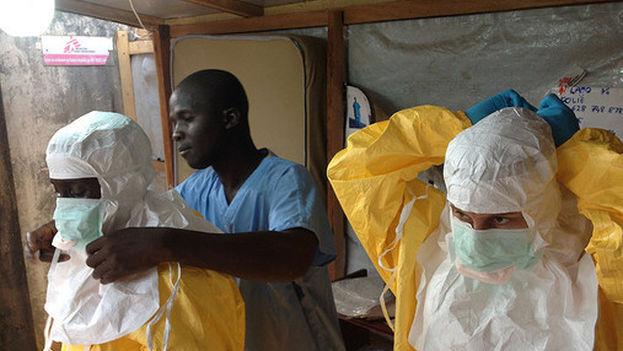 Instalaciones de urgencias de Médicos sin Fronteras en Guinea, en 2014. (EC DG ECHO)