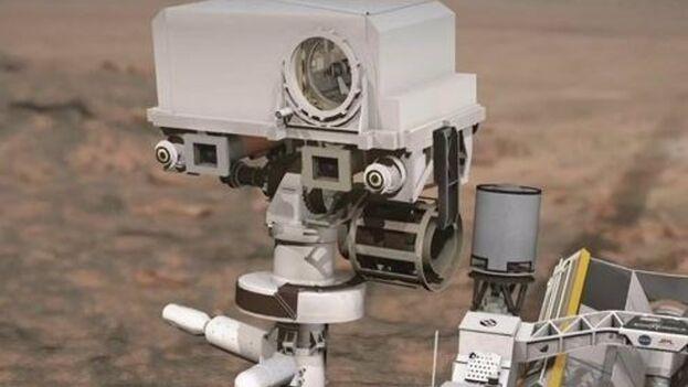 Instrumento SuperCam del rover Perseverance, en Marte. (NASA/JPL/Caltech)