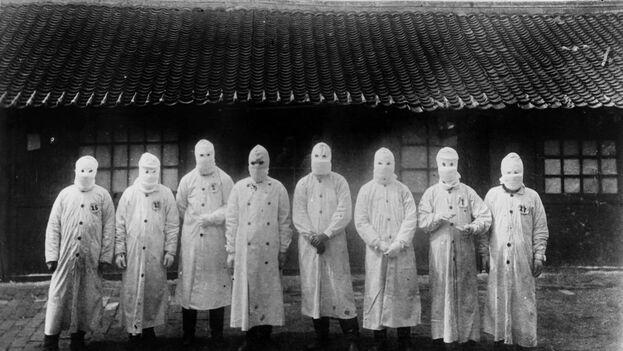 Manchuria (China) en 1911. La Tercera Pandemia de Peste golpeó el mundo entre 1894 y 1959. Fue la primera en ser fotografiada. (Institut Pasteur / Archivos Henri Mollaret)