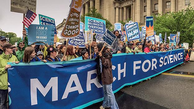 La gran March of Science de este año ha movilizado a la comunidad científica en 2017. (Science/Douthit)