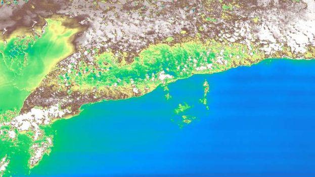 Miniatura de la primera imagen de HyperScout tomada en Cuba. (ESA)
