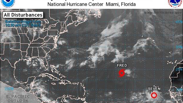 Nueva depresión tropical en el Atlántico (Foto http://www.nhc.noaa.gov)