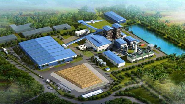 Proyecto de la planta, que se edifica en una zona aledaña al central azucarero Ciro Redondo, en la provincia central Ciego de Ávila