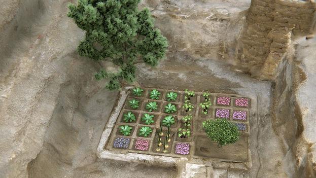 Reconstrucción del jardín funerario. (©CSIC Comunicación)