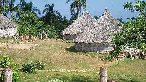 Reconstrucción de un poblado taíno en Cuba. (Michal Zalewski/cc)