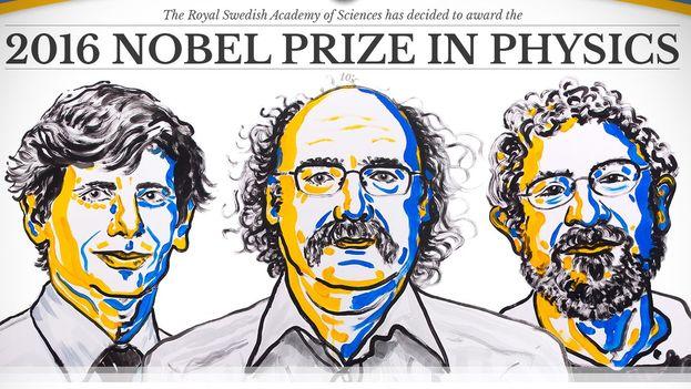 La mitad del premio será para Thoules y la otra, a repartir entre Haldane y Kosterlitz. (Nobel Prize)