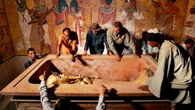 La tumba del rey Tutankhamon se descubrió en 1922 en el Valle de los Reyes. (EFE)