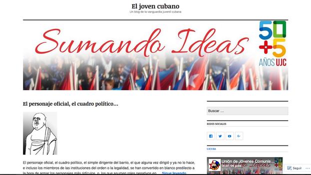 """El blog de la Unión de Jóvenes Comunistas ya tiene más de 28.000 """"me gusta"""" en Facebook. (Captura)"""