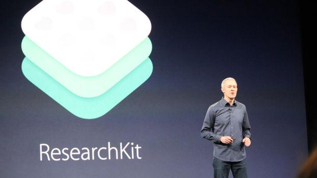 Jeff Williams, ejecutivo de Apple, presenta ResearchKit. (Venture Beat)