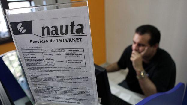 Un local de acceso a Internet del servicio Nauta. (EFE)