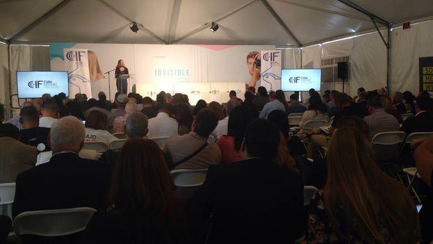 La conferencia Cuba Internet Freedom que se celebra desde este lunes en Miami. (14ymedio)