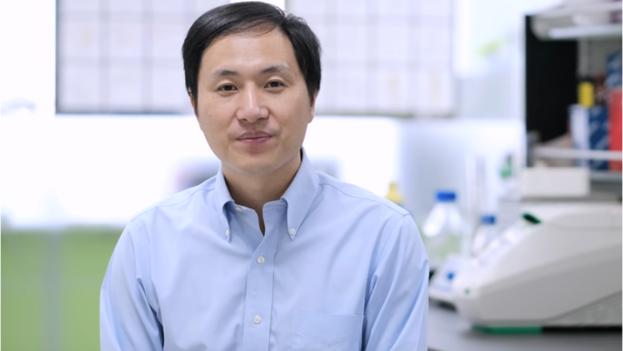 El genetista chino Jiankui He. (Captura)