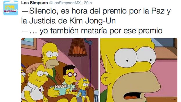 Los Simpson también han asistido estupefactos al espectáculo