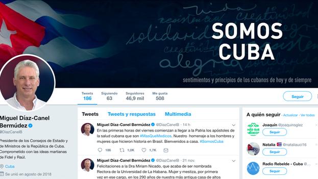 El cambio de la política de Twitter se produce un mes después de que Díaz-Canel abriese su cuenta.