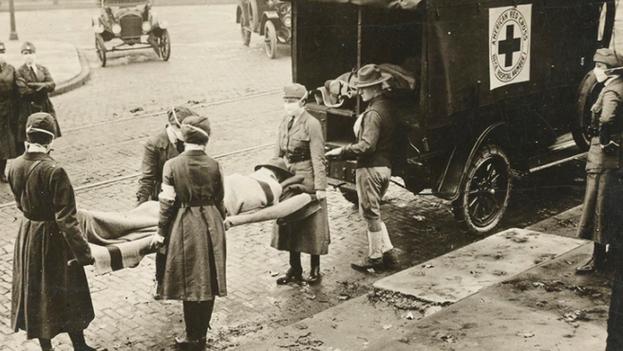 En 1918, gobiernos y sociedades cometieron errores que desgraciadamente se han repetido en la actual crisis sanitaria por la covid-19. (National Archives)
