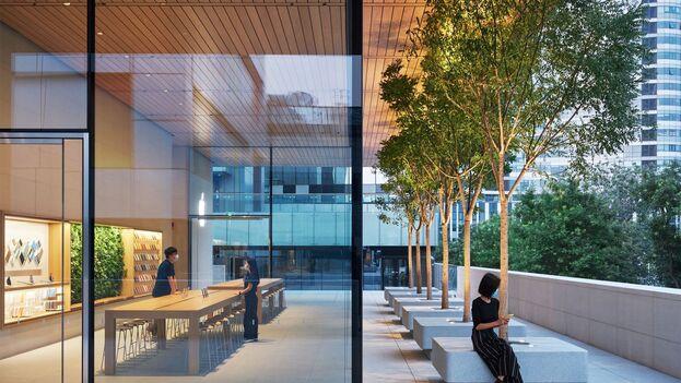 La nueva tienda de Apple dobla las dimensiones de la antigua sede, desde hoy cerrada. (Apple)