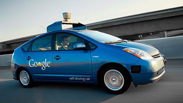 Un vehículo de conducción autónoma de Google.