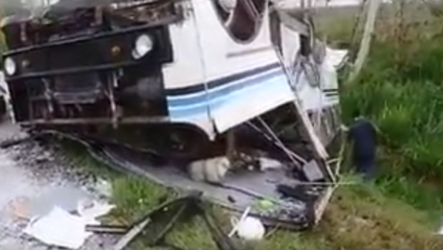 Accidente de tránsito en Bayamo. (Fotograma)