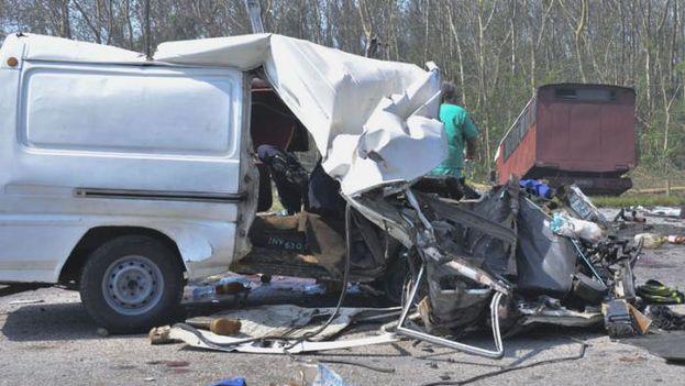 Accidente de tránsito (foto de Granma)