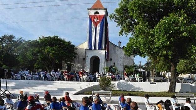 Acto político con motivo del 26 de julio en Corralillo, Villa Clara. (CMHW)